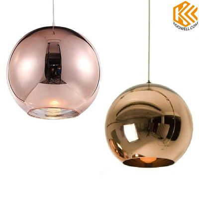 KA002 Modern Glass Mirror Ball Pendant Light for Dining room