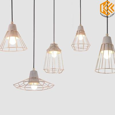 KG006 Creative Industrial Modern Wire Cement Pendant Light for Cafe ang Dining room